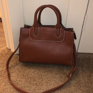 London Fog Cognac Satchel purse